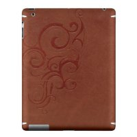 Наклейка ZAGG LEATHERskin для iPad2/New brown embossed