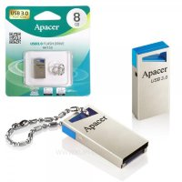 Флэш-диск 8Gb Apacer  AH155 USB3.0 Blue