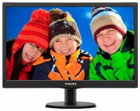 "Монитор LCD 18,5"" Philips  193V5LSB2 (10/62) Glossy-Black TN LED 5ms 16:9 10M:1 200cd"